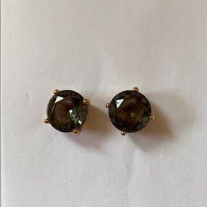 Kate Spade gum drop earrings- gunmetal